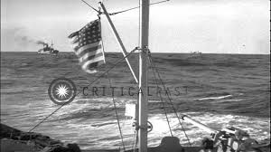 Us Flagged Merchant Ships The Uscgc Campbell With Merchant Ships In A Convoy During World