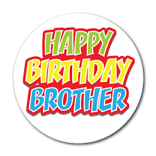 happy birthday brother u0027 stickers u2013 choice of 3 designs cards shops
