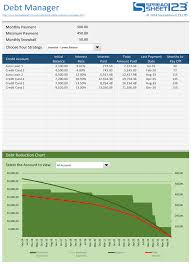 Debt Payoff Spreadsheet Excel Free Debt Reduction Manager For Excel