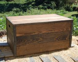 Shipping Crate Coffee Table - wooden crate toy chest large storage box from reclaimed wood