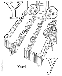 printable abc coloring pages letter y 해오름 프린트