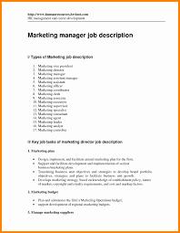 Marketing Assistant Job Description For Resume Cover Letter Marketing Specialist Sample Resume Resume Sample