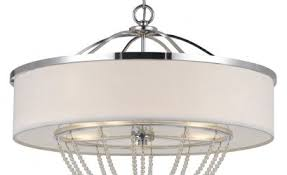 Double Drum Shade Chandelier Fabric Drum Shade Chandelier 46 Trendy Interior Or Double Shade
