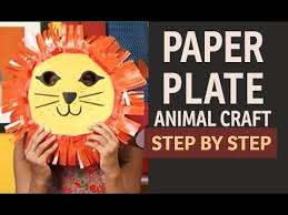 lion mask craft how to make lion paper plate party masks paper and craft