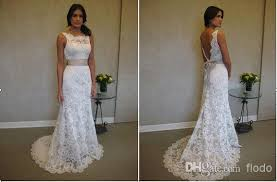 backless lace wedding dresses vintage lace backless wedding dresses 2017 sheer bateau neck