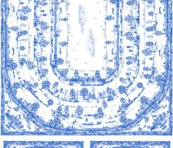 blue toile table cloth 2 yard print with napkins â 2012 by