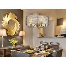 Dining Room Chandelier Lighting Progress Lighting Gather Collection 5 Light Brushed Nickel