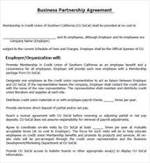 free partnership agreement templates business general template