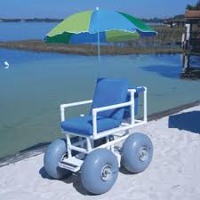 Beach Shade Umbrella Aqua Creek Beach Access Chair With 4 Large Wheels And Umbrella