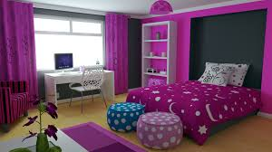 white wood bed frame black bed cover purple walls bedroom ideas