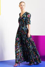 siege tara jarmon robe longue imprimé fleurs tara jarmon mode femme
