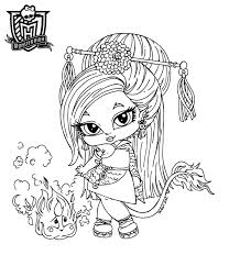 baby monster high coloring page free download