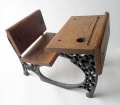 Small Vintage Desks Small School Wood Cast Iron Desk Circa 1970s Doll Teddy