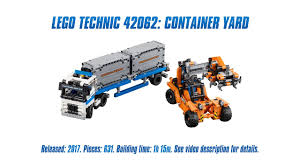 technic pieces technic 42062 container yard unboxing speed build review