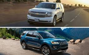ford explorer vs chevy tahoe 2017 ford explorer vs 2017 chevrolet tahoe auto review hub