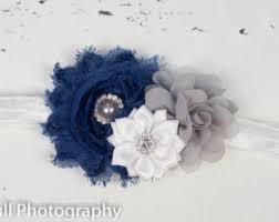 white and blue headband navy blue headband etsy