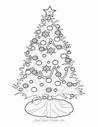 outline of a christmas tree kids coloring