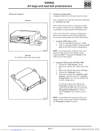 esp renault clio 1999 x65 2 g air bag and seat belts workshop manual