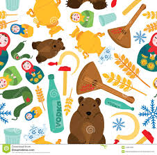 typical russian things set stock illustration image 44821628