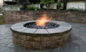 Firepit Blocks Paver Patio With Pit Contemporary Outdoor Pits Pit