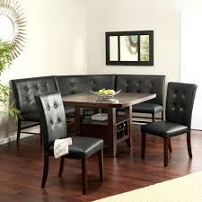 round table and bench set rustic dining room tables with benches