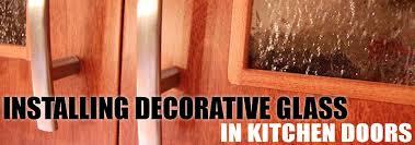decorative glass in cabinet doors