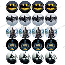 boys birthday batman edible wafer paper for cup cake topper 2 20pcs set icing