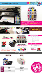 inkfinite continuous ink printer bundle for brother all in one