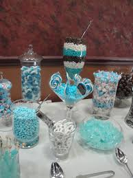 Tiffany Blue Candy Buffet by The White Chocolate Pretzels Drizzled With Red Or Turquoise