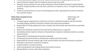 social worker resume sample resume hospital social worker