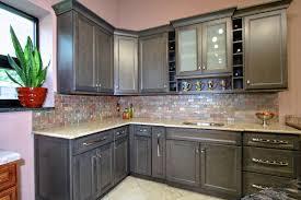 Brick Kitchen Backsplash Kitchen Design Two Tone Kitchen Design Attractive Grey