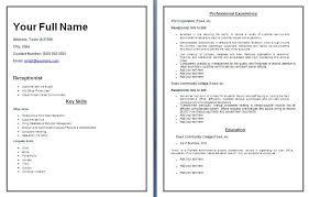 resume word templates