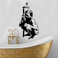 banksy vinyl wall art shop home banksy child needs water wall sticker banksy vinyl wall art