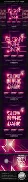 glow in the dark party flyer on behance