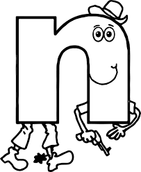 alphabet for kids alphabet n coloring page wecoloringpage