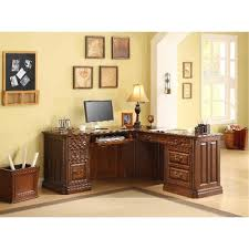 Brown Corner Desk L Shaped Wooden Brown Corner Desk Breckenridge Rc Willey