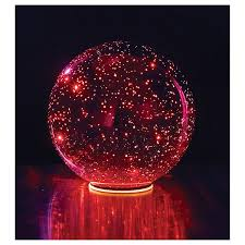 lighted mercury glass sphere at signals hr9916