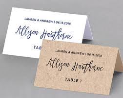 Wedding Place Cards Template Wedding Place Cards Etsy