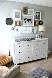 Ikea Wall Changing Table Duo Ventures The Nursery Custom Ikea Hemnes Dresser