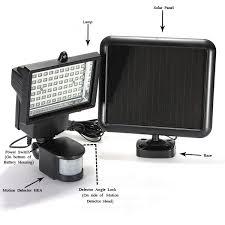 motion sensor solar power ultra bright security led light flood