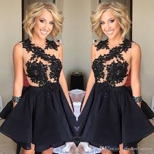 little black dresses bling homecoming ball gown puffy chiffon