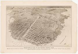 San Francisco City Map by A Bird U0027s Eye View Of San Francisco Destroyed By Fire Big Think