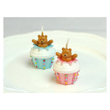 cupcake candles teddy cupcake candles soiree party