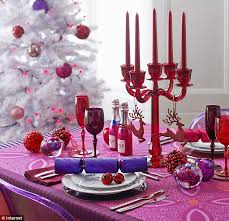 transform your christmas day table with rich jewel shades of plum