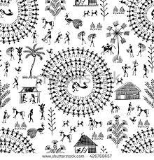 Warli Art Simple Designs Folk Art Stock Images Royalty Free Images U0026 Vectors Shutterstock
