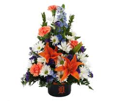 detroit tiger bowl bouquet in southfield mi thrifty florist