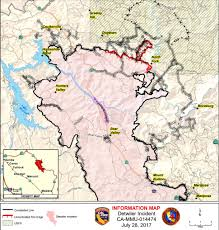 Map Of Yosemite Update On The Detwiler Fire Friday 6 Am Sierra News Online
