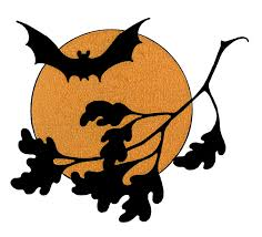 vintage halloween clip art bat with moon the graphics fairy