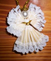 Christmas Angel Tree Decorations To Make by How To Make Christmas Angels Made Out Of Lace Ribbon Hubpages