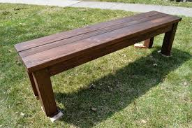 Simple Wooden Park Bench Plans by Kruse U0027s Workshop Simple Indoor Outdoor Rustic Bench Plan